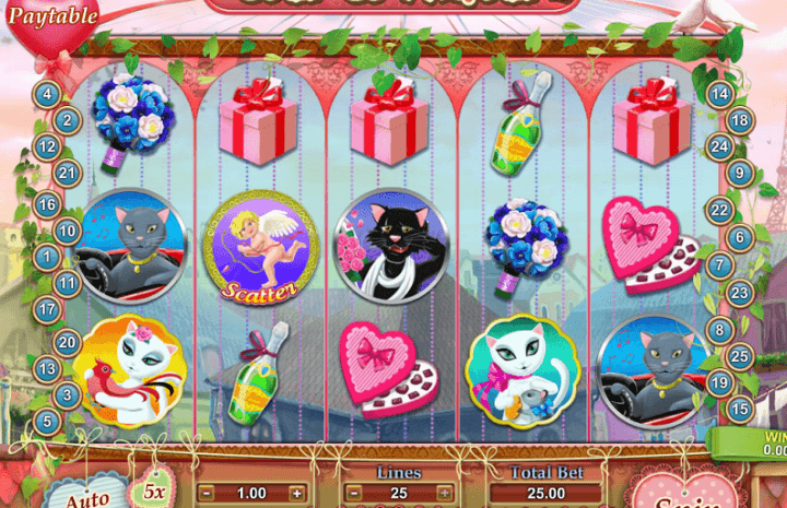 Playing Jour de L'Amour Online Slot with Guide